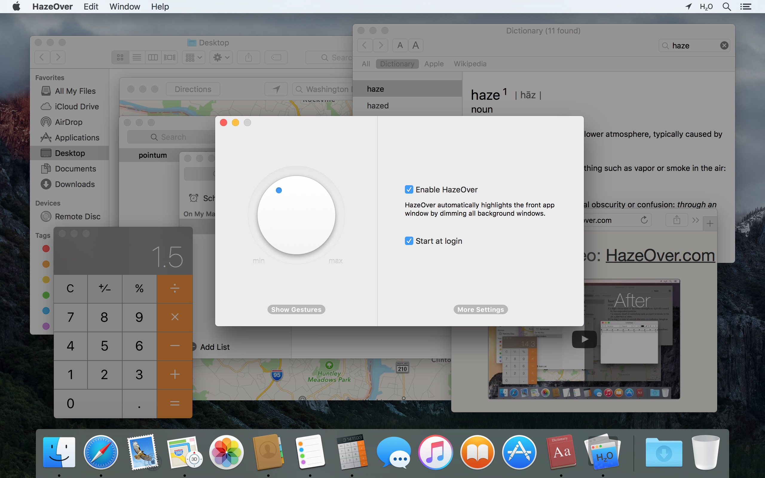 Hazeover Distraction Dimmer For Productivity On Mac